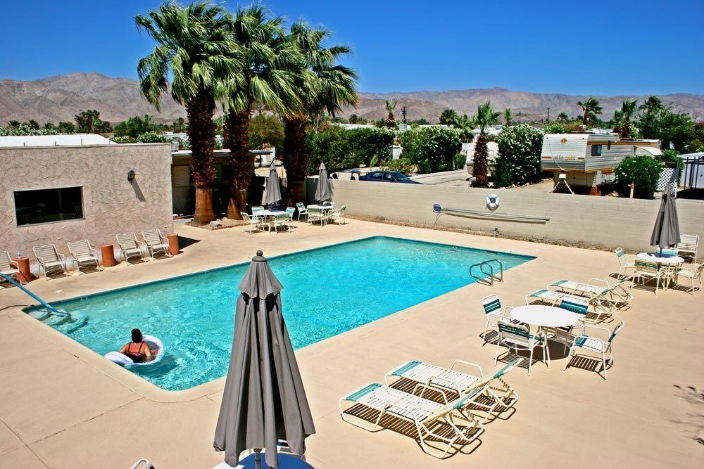 Enjoy our Desert Edge, CA RV Park Pool